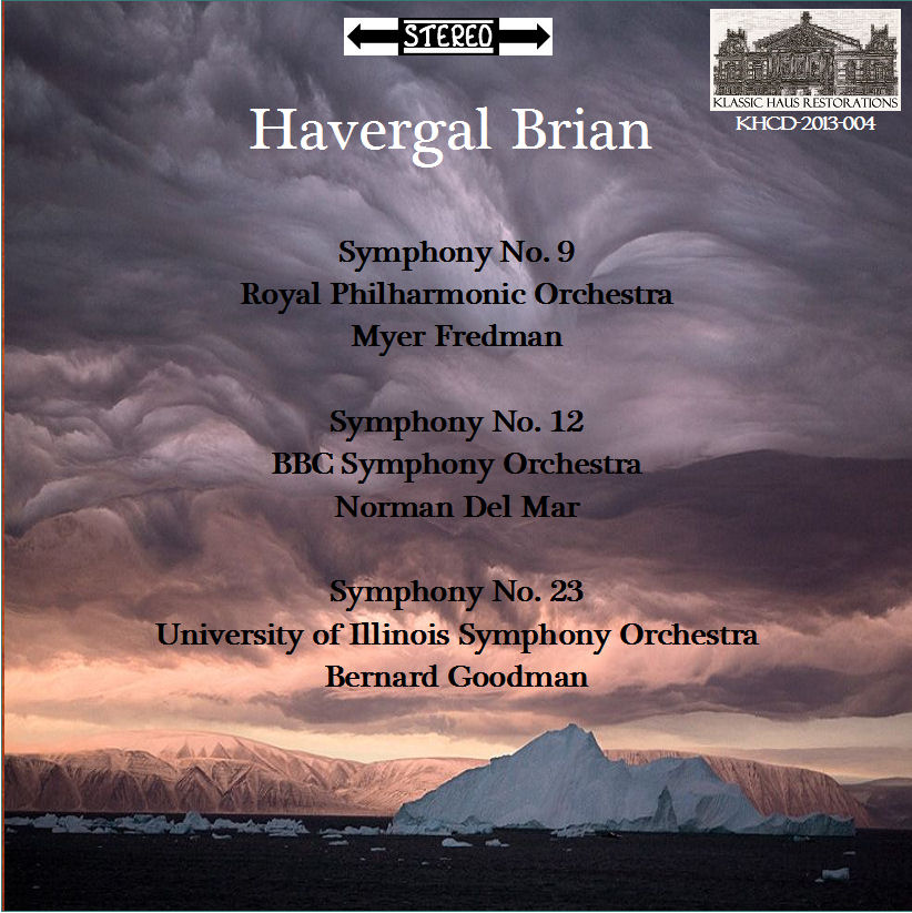 Click thumbnail - MP3 sample of 3rd movement 9th Symphony; beginning of 12th Symphony; 2nd movement of 23rd Symphony.