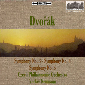 KHCD-2013-025-2CD (STEREO) - Dvok: Symphony No. 3 in E-flat, Op. 10; Symphony No. 4 in d minor, Op. 13; Symphony No. 5 in F, Op. 24 - Czech Philharmonic Orchestra/Vaclav Neumann - Click for an MP3 sample