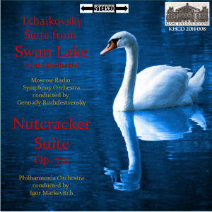 "KHCD-2014-008 (STEREO) - Tchaikovsky: Suite from the ballet ""Swan Lake"" - Moscow Radio Symphony Orchestra/Gennady Rozhdestvensky; Nutcracker Suite, Op. 71a - Philharmonia Orchestra/Igor Markevitch -  Go to Purchase Page to view options"