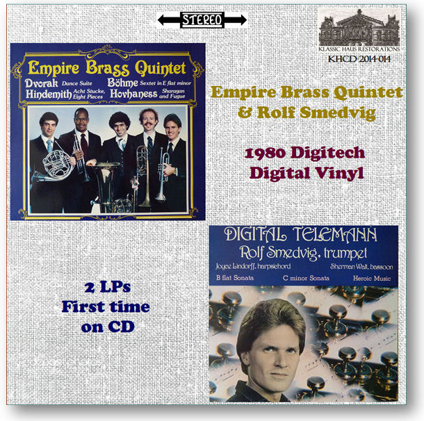 KHCD-2014-014 Empire Brass Quintet/Rolf Smedvig - Early Digital Recordings - Go to View Item/Purchase page