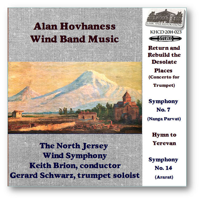 KHCD-2014-023 (STEREO) - Hovhaness: Wind Band Music - Click to view/purchase