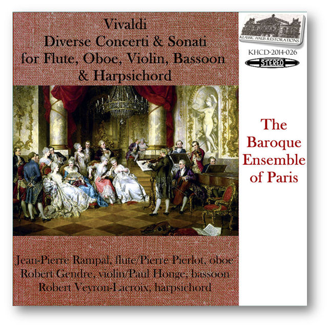 KHCD-2014-026 (STEREO) - Vivaldi: Diverse Concerti & Sonati - Baroque Ensemble of Paris - Click to view/purchase