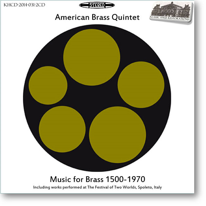 KHCD-2014-031-2CD - Music for Brass 1500-1970 - Click to view/purchase