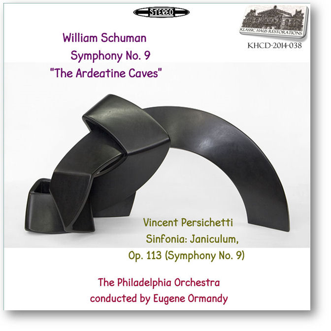 KHCD-2014-038 (STEREO) - Ormandy conducts Schuman & Persichetti - Click to go to Preview/Purchase Page