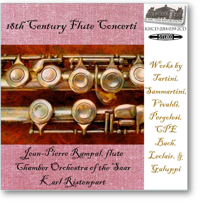 KHCD-2014-039-2CD - 18th Century Flute Concerti - Click to go to Preview/Purchase Page