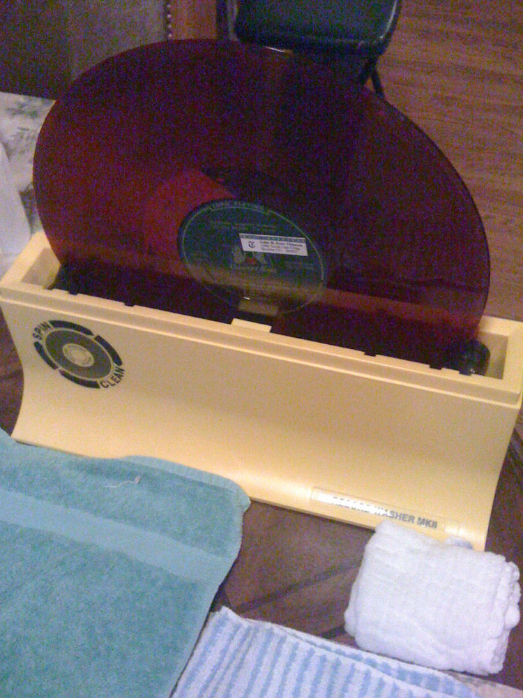 I clean all LPs with the Spin Clean Record Cleaner MKII before transcription