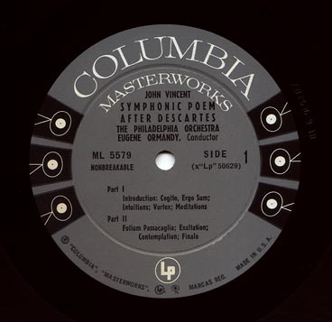Columbia 6-eye mono LP label